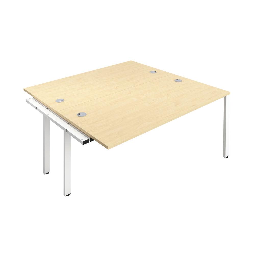 Jemini 1400mm Maple/White Two Person Extension Desk