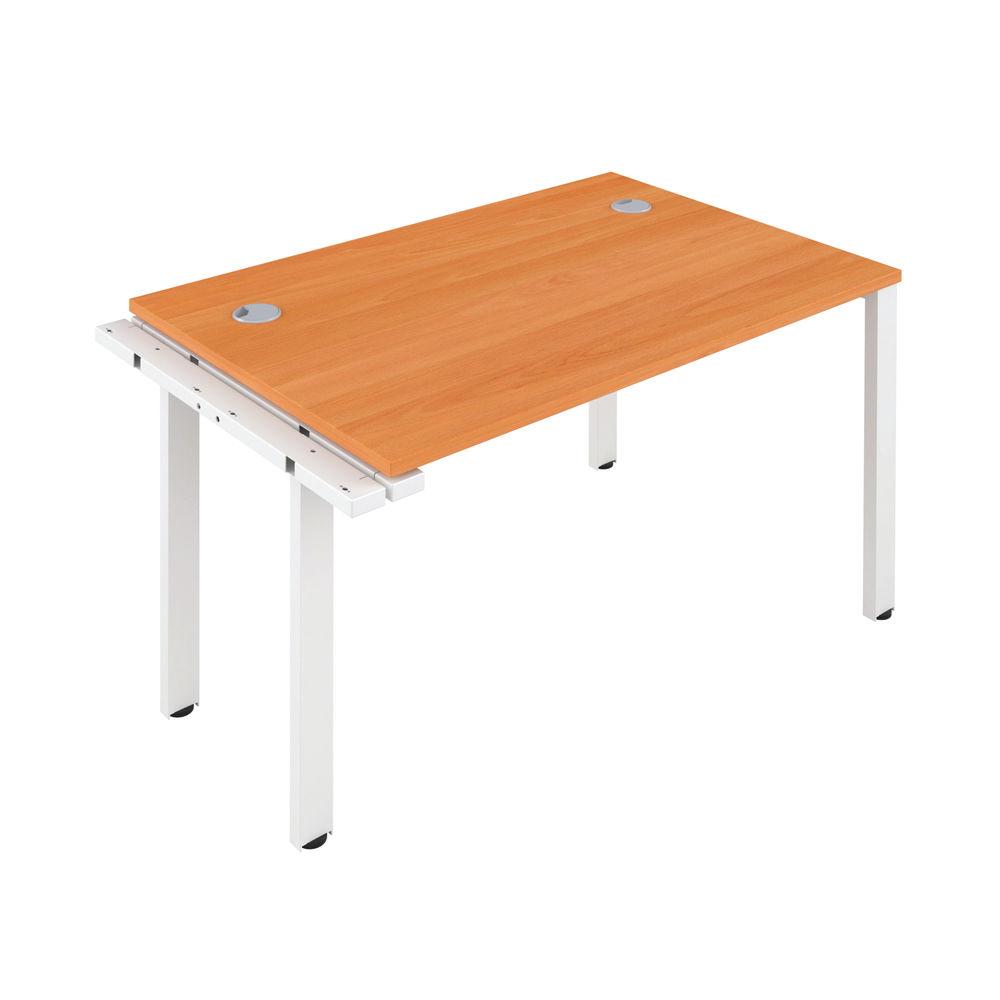 Jemini 1200mm Beech/White One Person Extension Desk