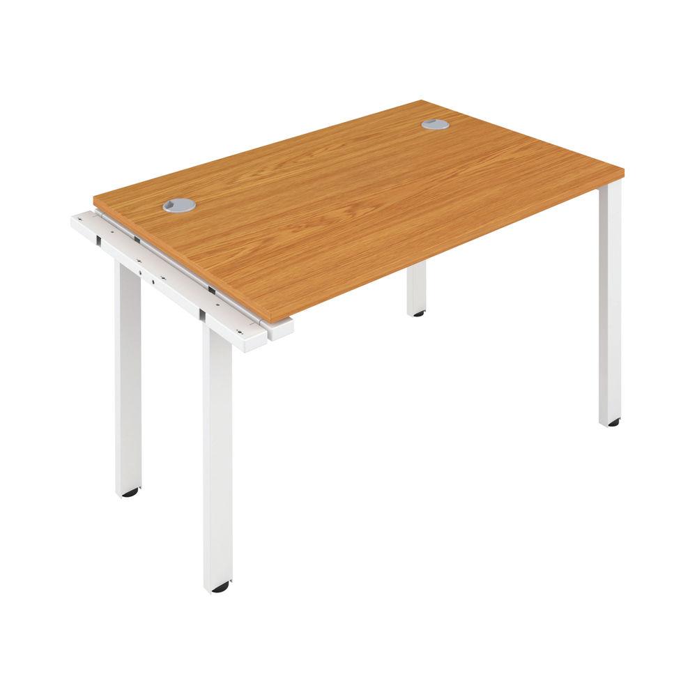 Jemini 1200mm Nova Oak/White One Person Extension Desk