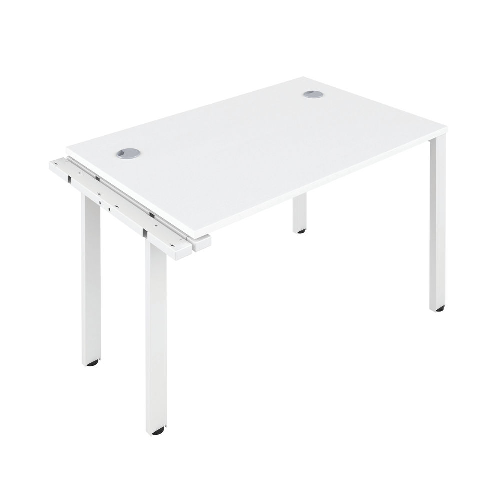 Jemini 1200mm White/White One Person Extension Desk
