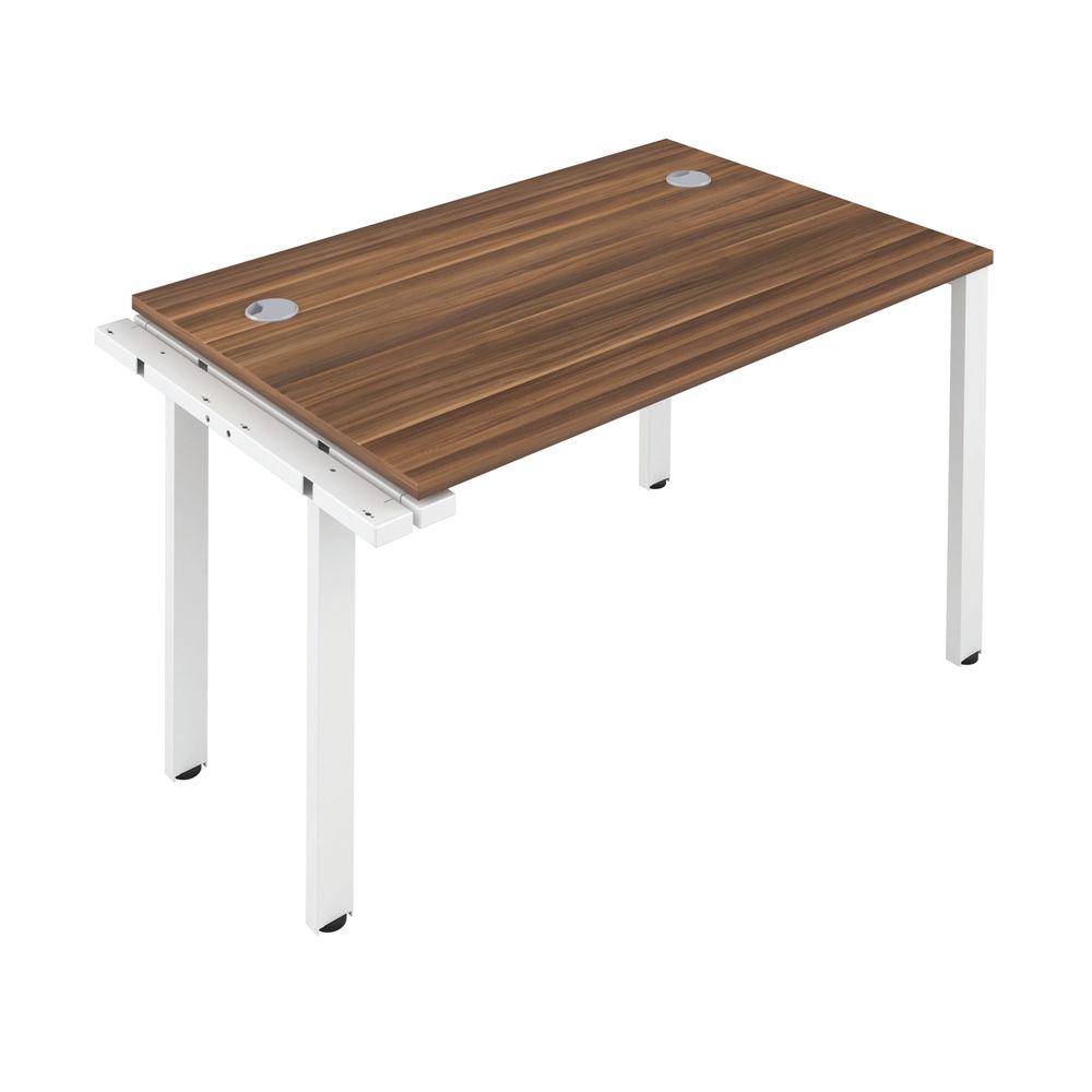 Jemini 1200mm Dark Walnut/White One Person Extension Desk