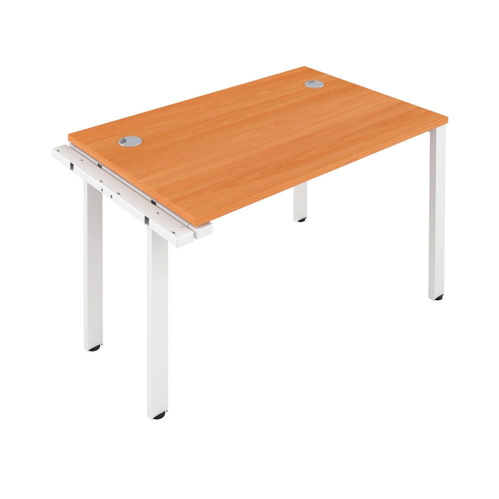 Jemini 1400mm Beech/White One Person Extension Desk
