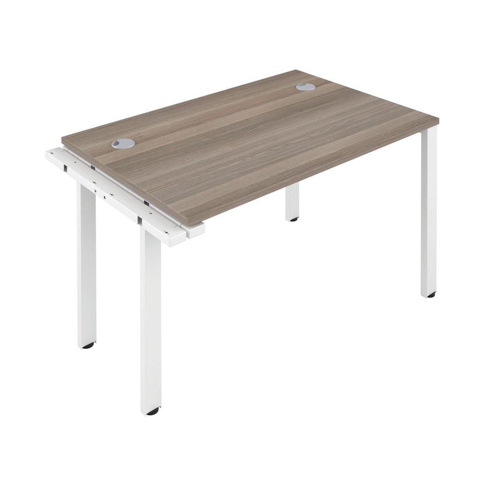 Jemini 1400mm Grey Oak/White One Person Extension Desk