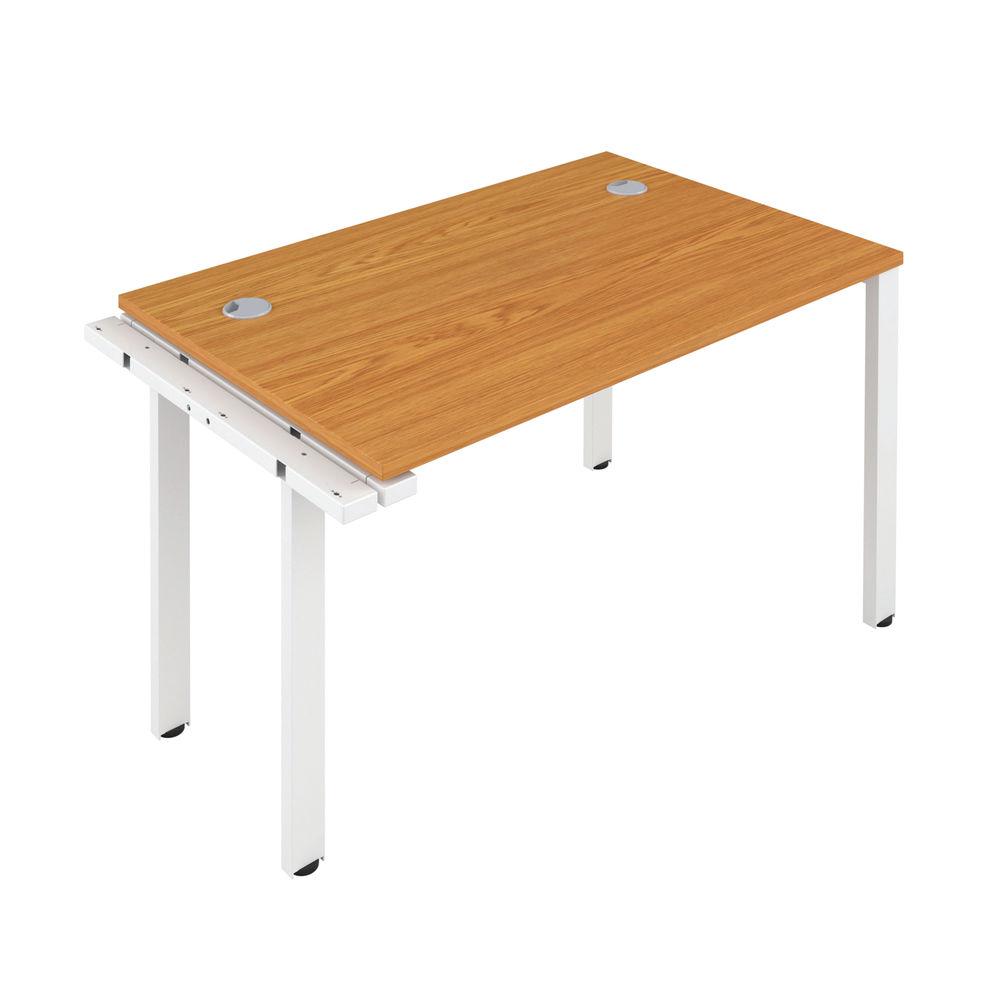 Jemini 1400mm Nova Oak/White One Person Extension Desk
