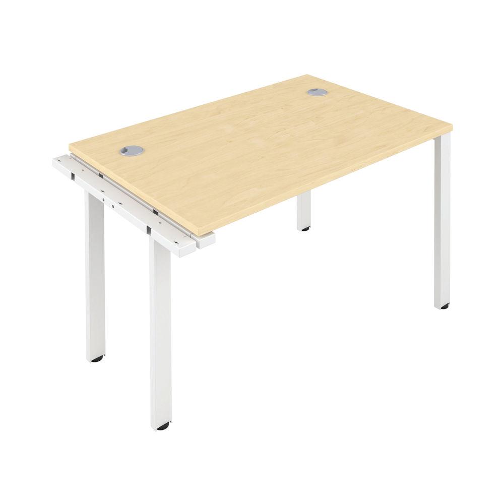 Jemini 1400mm Maple/White One Person Extension Desk