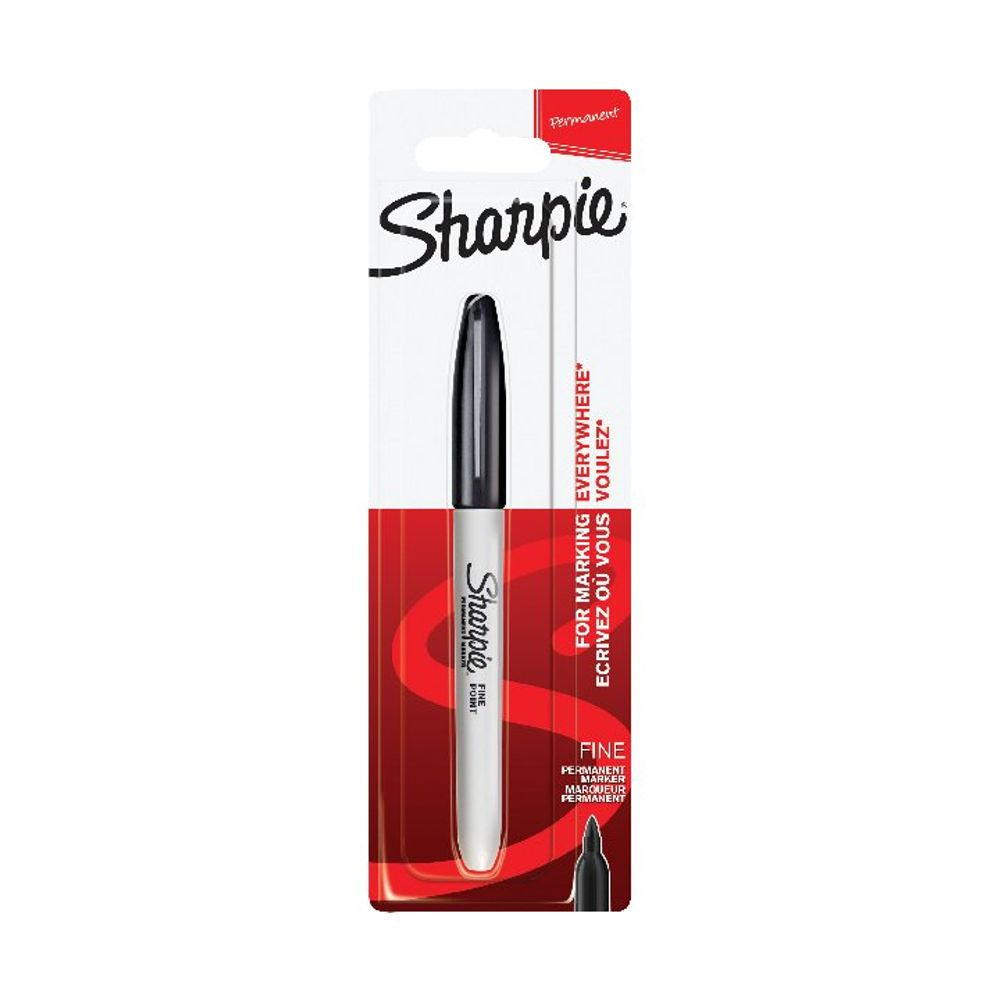 Sharpie 08 Black Permanent Markers, Pack of 12 - 1985857