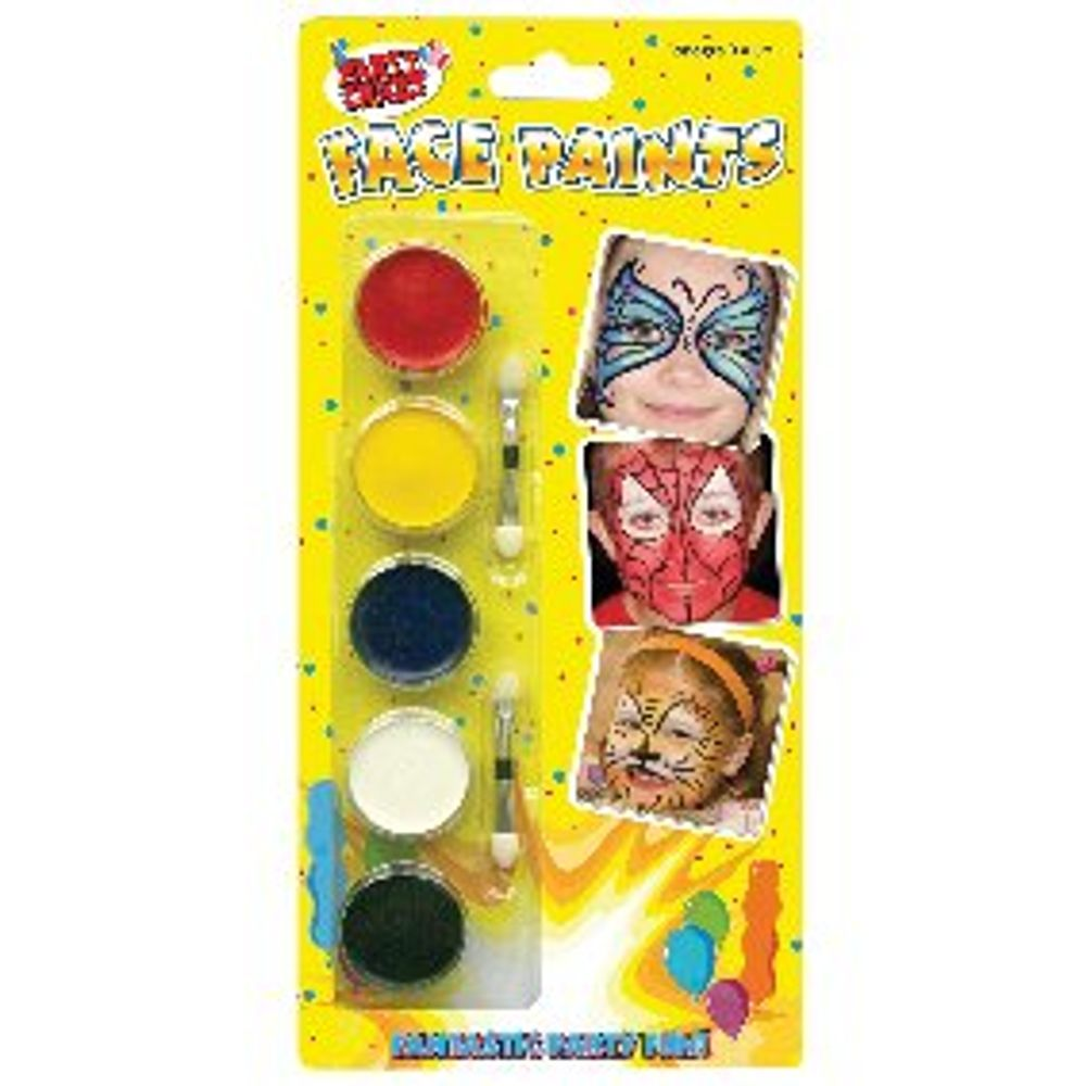 Tallon Face Paints, 5 Colours, Pack of 12 - 5111