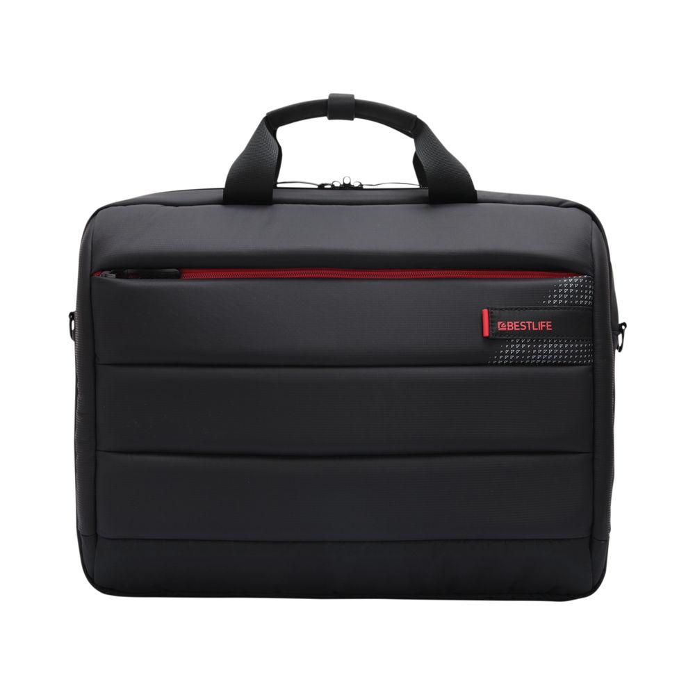 BestLife 15.6 Inch Laptop Bag with USB Type-C Connector Black BBC-3335BK