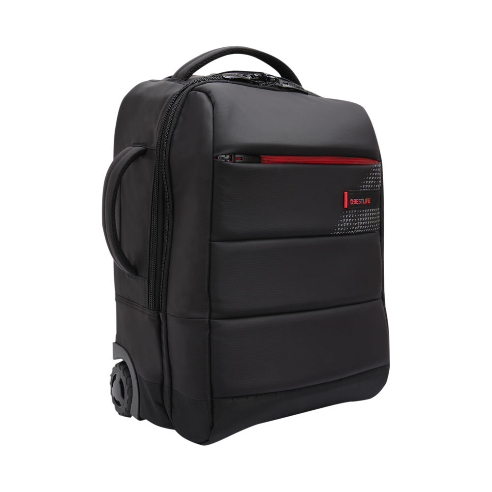 BestLife 15.6 Inch Trolley Backpack with USB Type-C Connector Black BT-3335BK