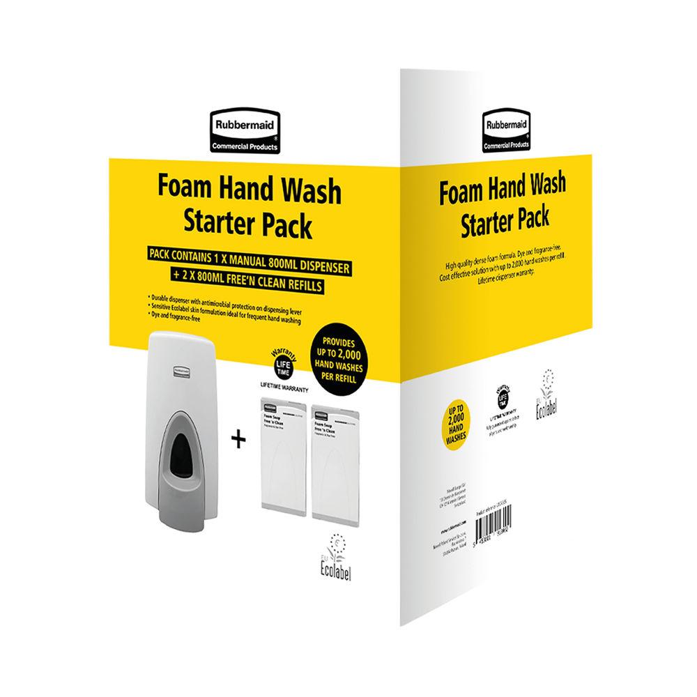 Rubbermaid Manual Starter Pack (1 Dispenser 2 Refills) 2127385