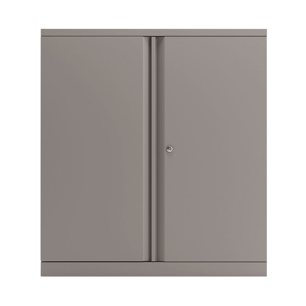 Bisley 1000mm Goose Grey 2 Door Empty Cupboard - BY78709