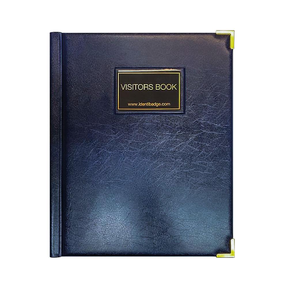 Identibadge Black GDPR Visitor Book with Binder - IBVB-GDPR
