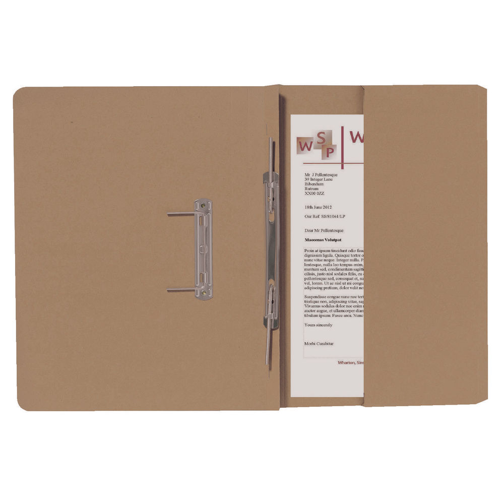 Guildhall Buff Foolscap Right Hand Pocket Spiral File (Pack of 25) 211/9061Z