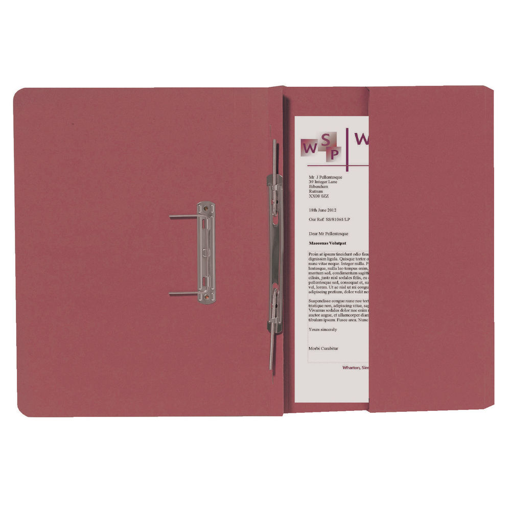 Guildhall Red Foolscap Right Hand Pocket Spiral File Pack of 25 211/9065Z
