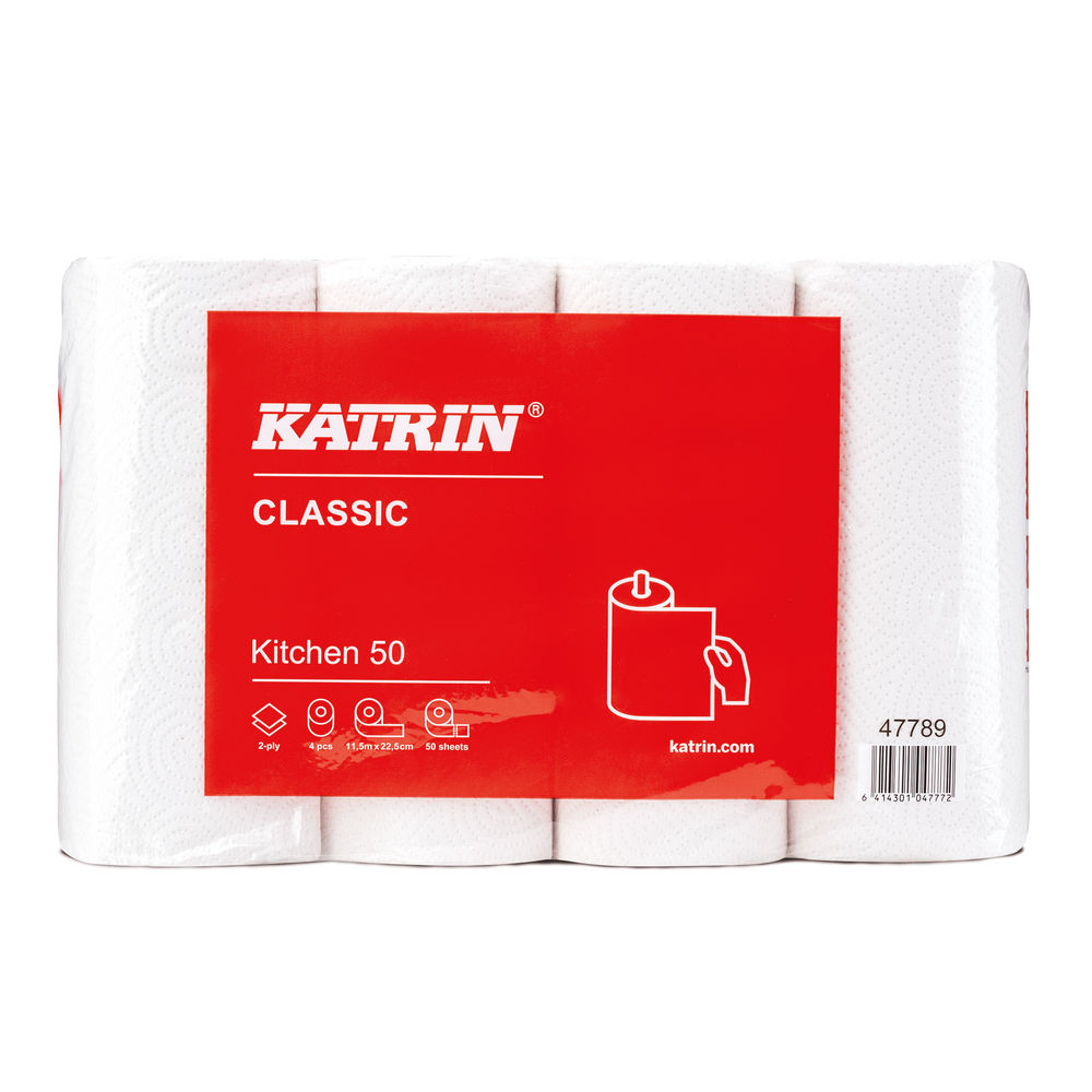 Katrin Classic 50 Sheet Kitchen Roll (Pack of 32) - 47789