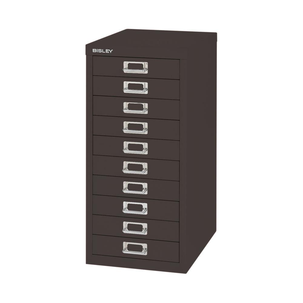 Bisley 590mm Black 10 Drawer Filing Cabinet - BY99639