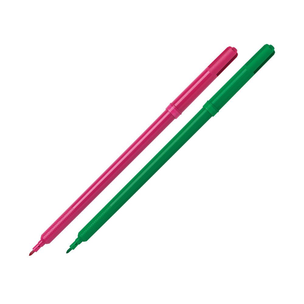 Assorted Fibre Tip Pens (Pack of 10) - 7290WT10
