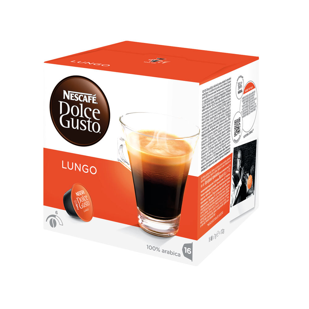 Nescafe Dolce Gusto Cafe Lungo Coffee Capsules, Pack of 48 - 12019900