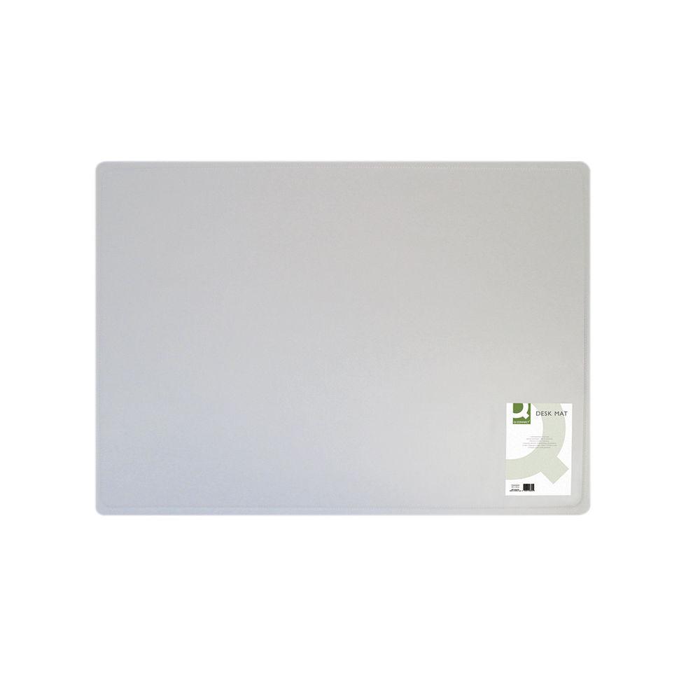 Q-Connect 400x530mm Transparent Desk Mat – KF26800