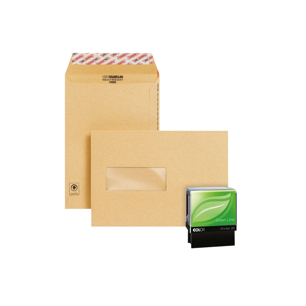 New Guardian Easy Open C5 Window Manilla (Pack of 250) Plus Free Stamp