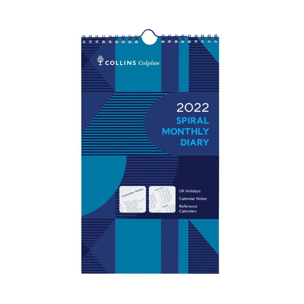 Collins Spiral Monthly Diary 2022 64