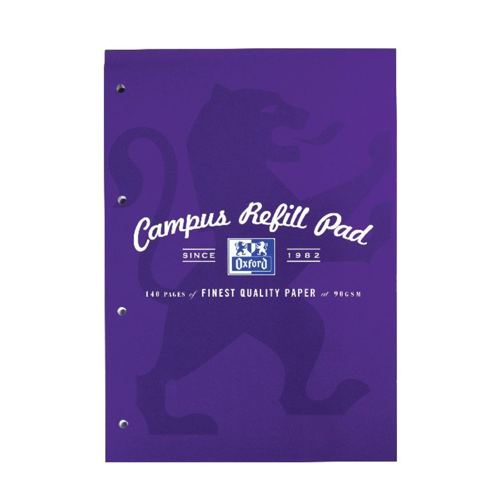 Oxford Campus A4 Refill Pad 140 Pages Purple 400066644