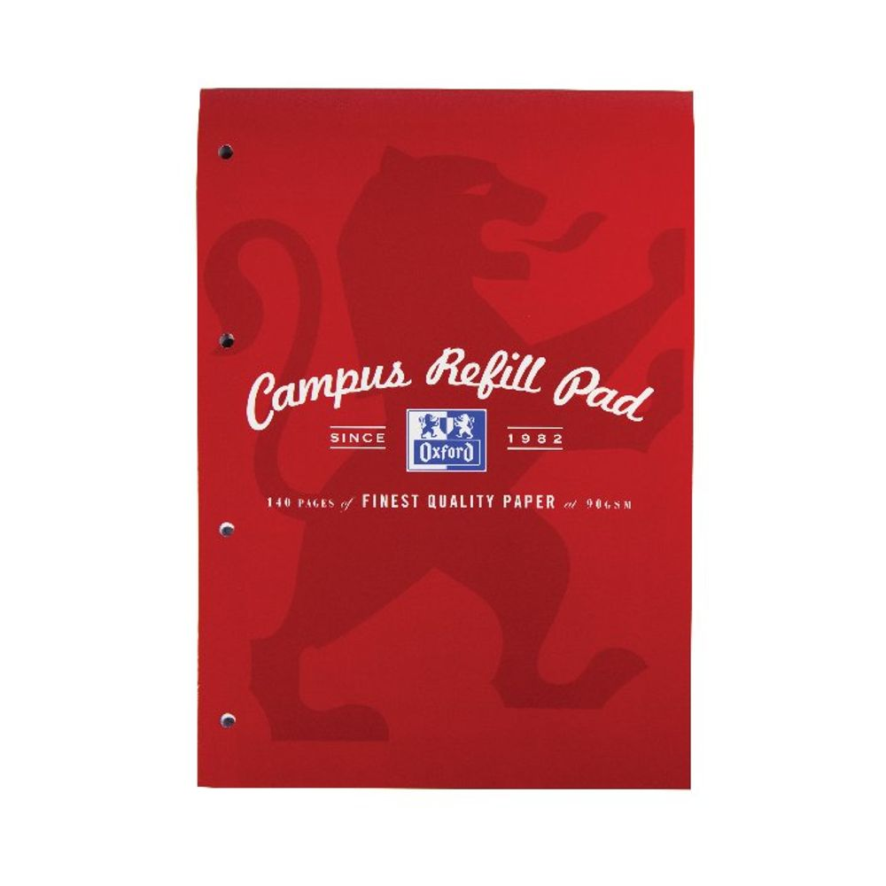Oxford Campus A4 Red Refill Pad - 400066643