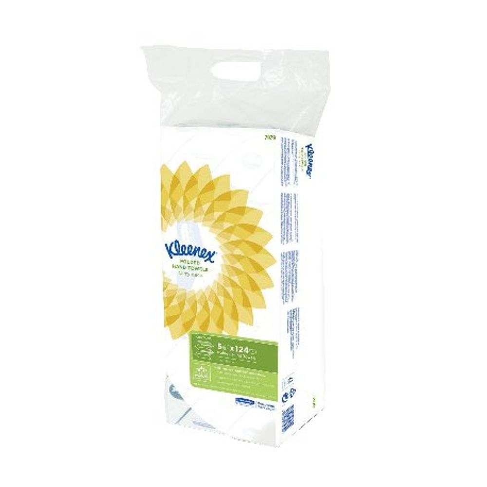 Kleenex White Ultra Hand Towels, Pack of 5 - 7979