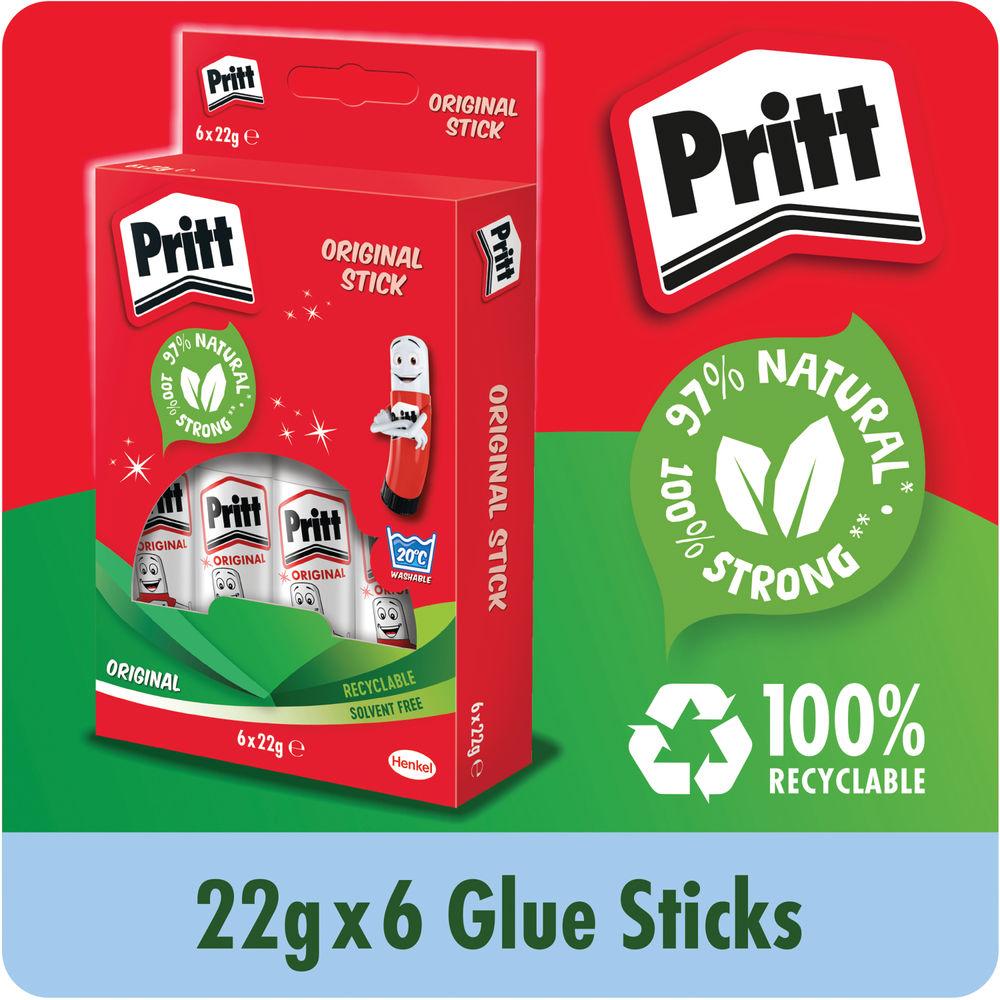 Pritt Stick 22g Original, Pack of 6 | 10456071