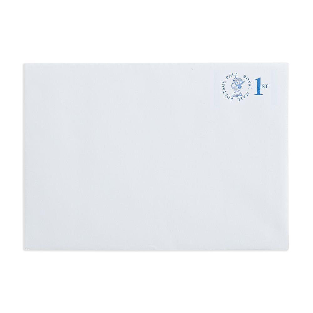 1st Class White C5 Plain Prepaid Envelopes, Pack of 100 - V7