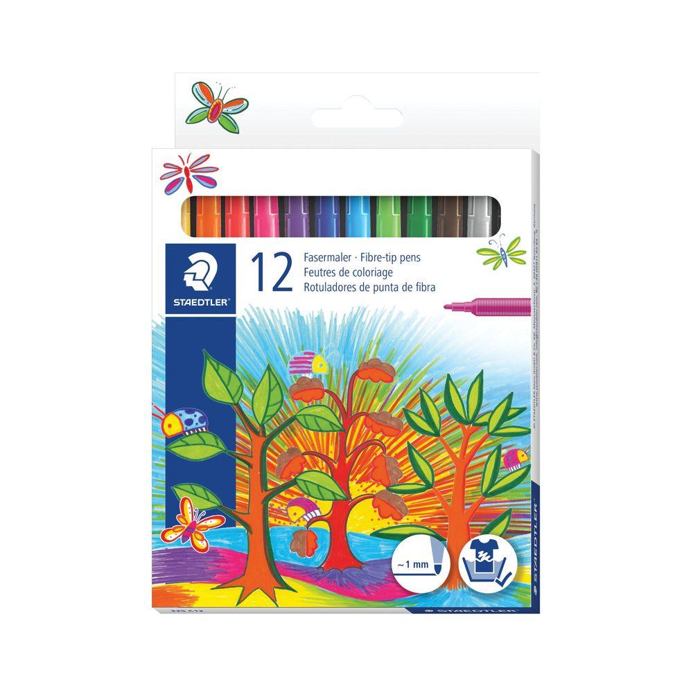 Staedtler Noris Fibre Tip Pens Assorted Colours (Pack of 120) 325 C12