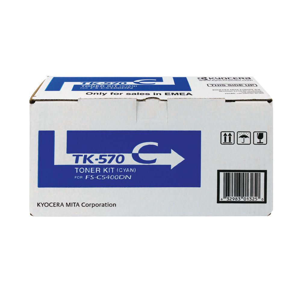 Kyocera TK-570C Cyan Toner Cartridge - 1T02HGCEU0