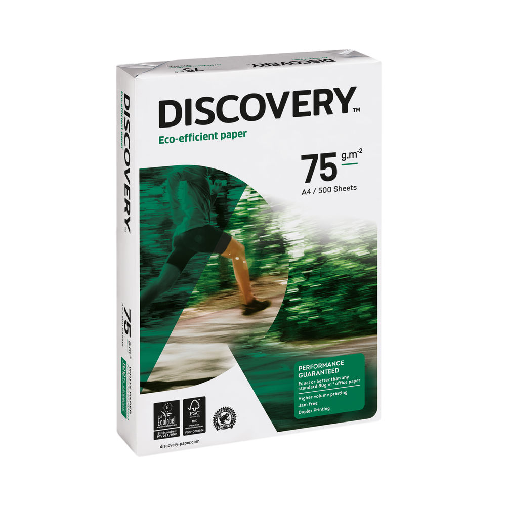 Discovery A4 White Paper, 75gsm, Pack of 2500 - 59908