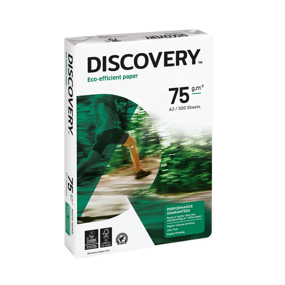 Discovery A3 White Paper, 75gsm, Pack of 500 - 59911