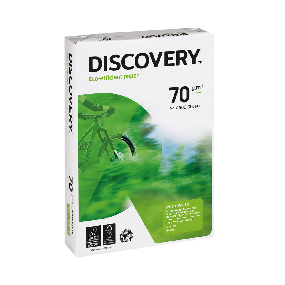 Discovery A4 White Paper, 70gsm, Pack of 2500 - 59912