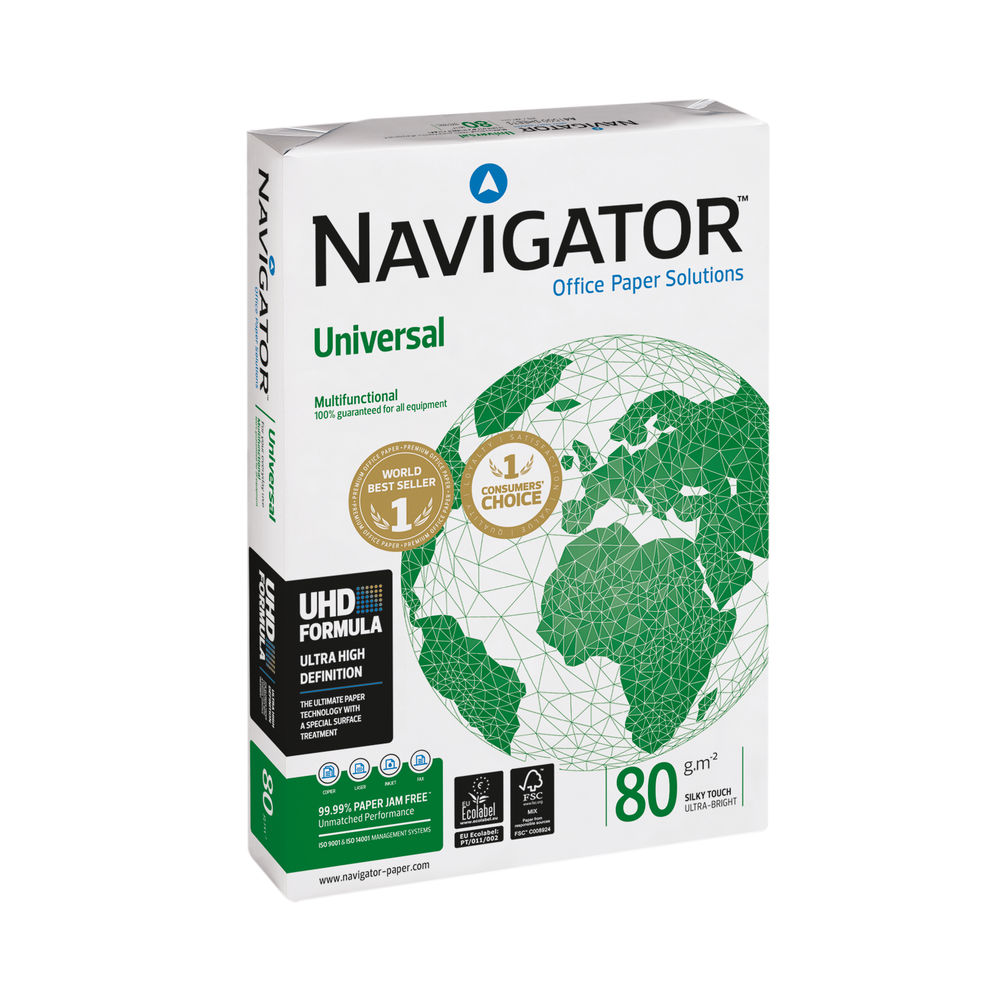Navigator Universal A3 White Paper, 80gsm, Pack of 2500 - NAVA380