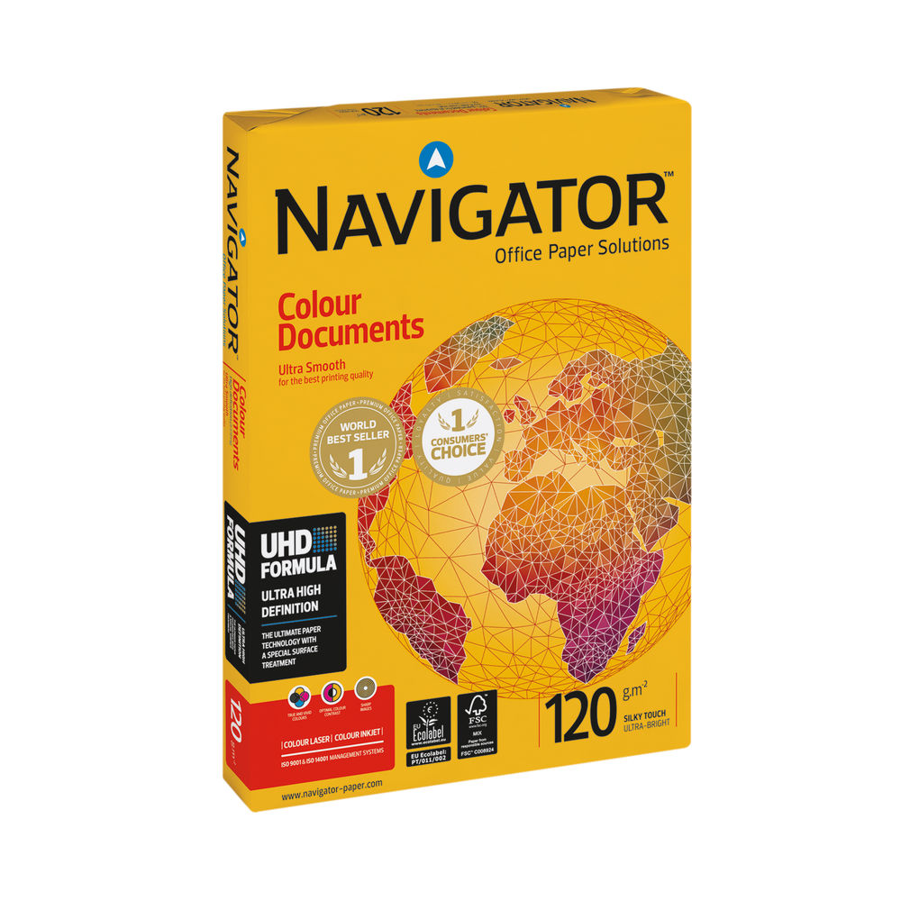 Navigator White A3 Colour Documents Paper 120gsm (Pack of 500) - NAVA3120