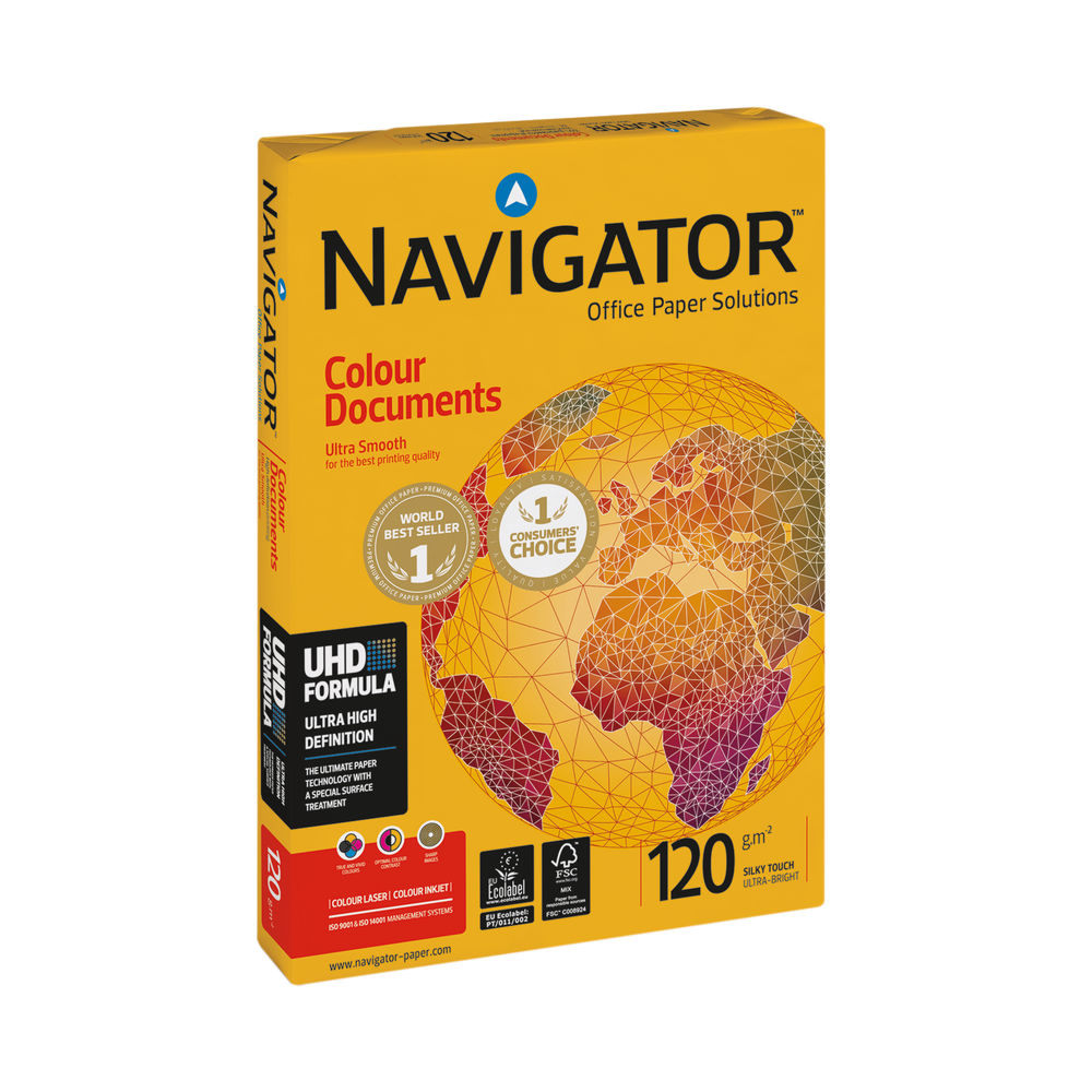 Navigator White A4 Colour Documents Paper 120gsm (Pack of 250) - NAVA4120