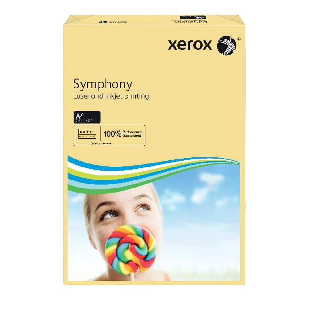 Xerox Symphony Pastel Ivory A4 Paper, 80gsm, 500 Sheets - 003R93964