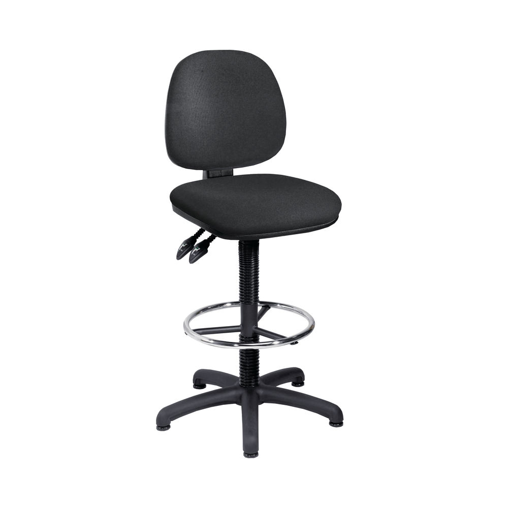 Arista Black Fixed Foot Rest Draughtsman Chair