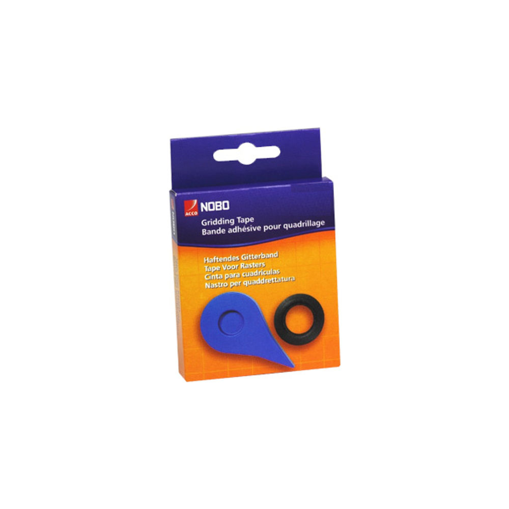 Nobo Black Gridding Tape 3mm x 10m - 1901122