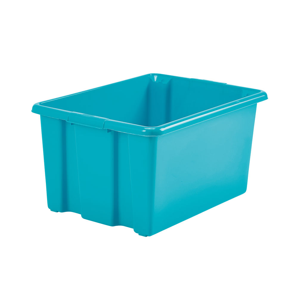 Stack and Store Teal Large Storage Box - S01L809