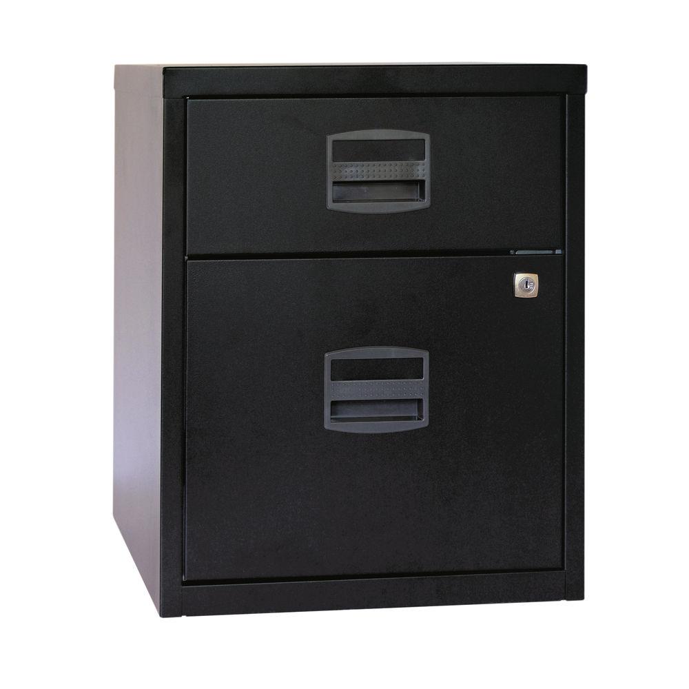 Bisley 525mm A4 Black 2 Drawer Home Filer - BY31012