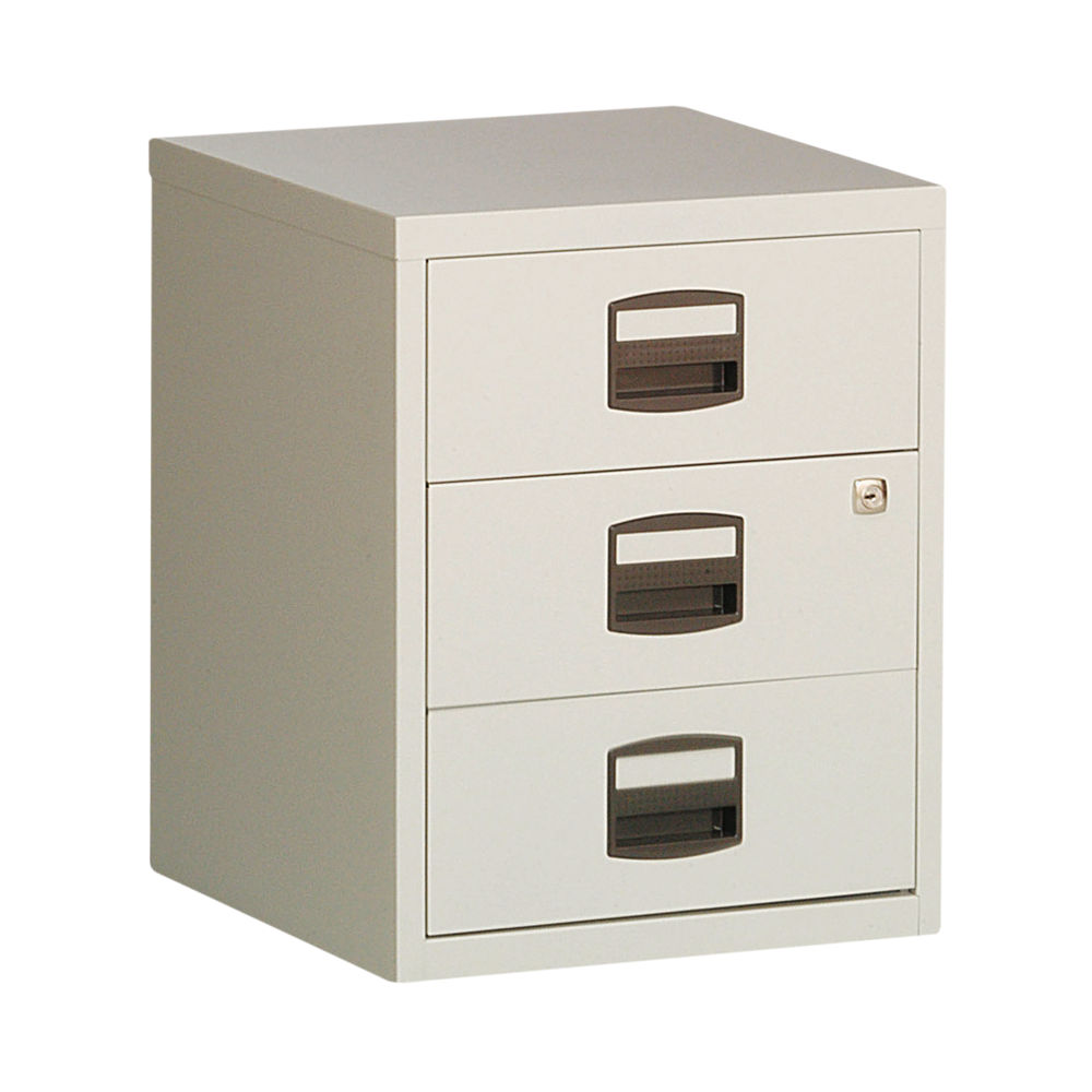 Bisley 525mm Grey Home 3 Drawer Filing Cabinet - BY13461