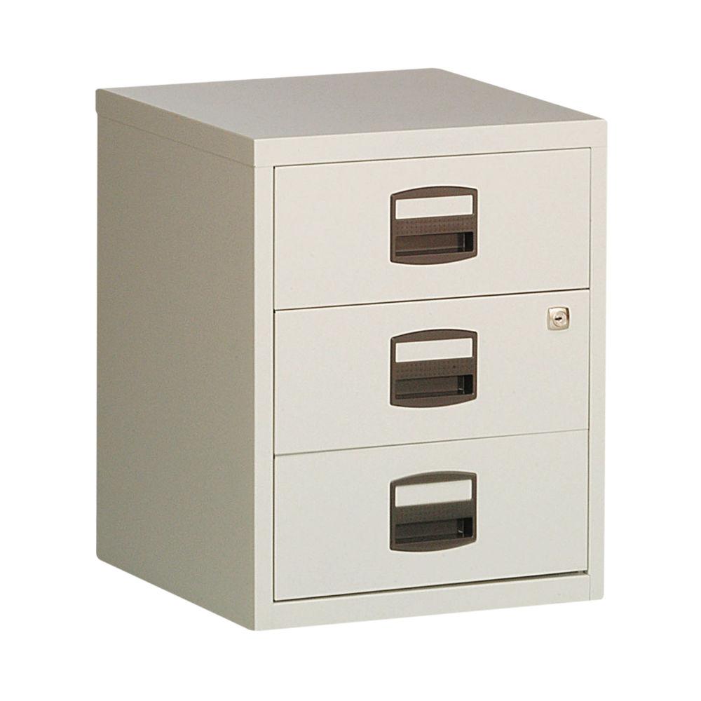 Bisley Grey 3-Drawer Filing Cabinet - BY13461