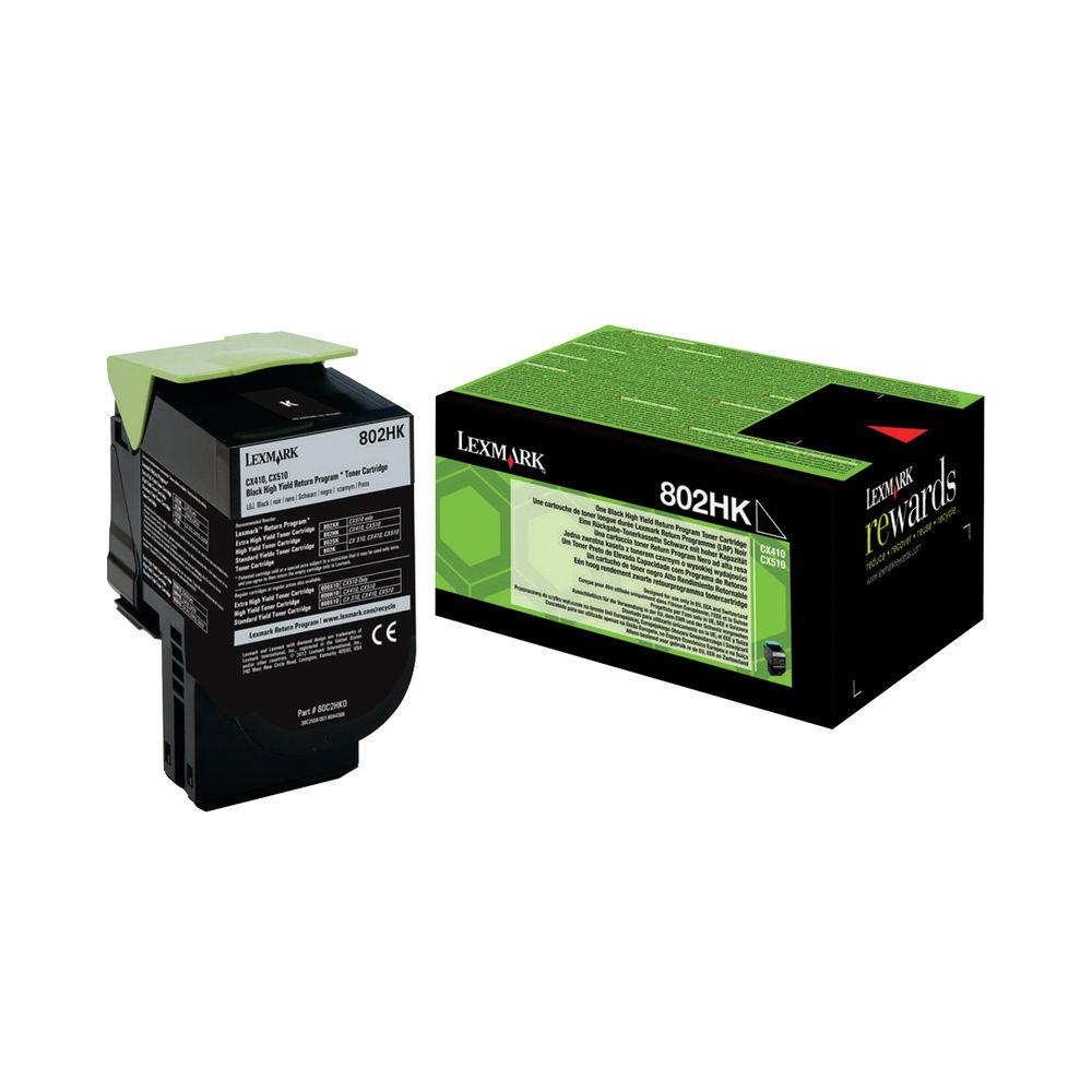 Lexmark 802HK Black High Yield Toner Cartridge 80C2HK0