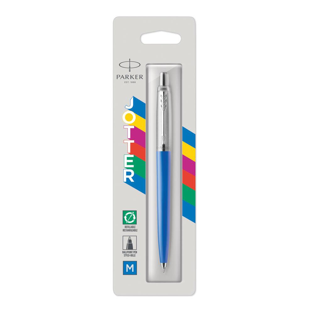 Parker Jotter Ballpoint Pen Medium Tip Blue Barrel Blue Ink 2076052