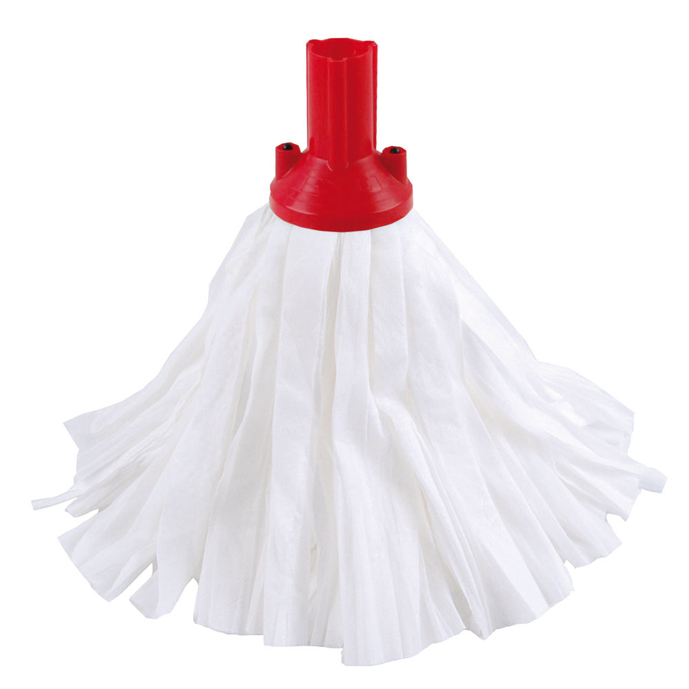 Exel Big White Red Mop Heads, Pack of 10 - 102199