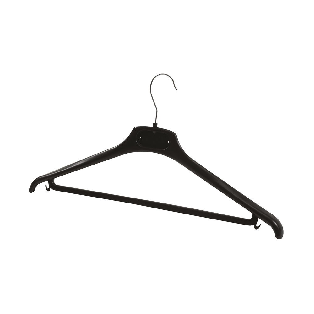 Alba Black Plastic Coat Hangers, Pack of 20 - PMBASICPL