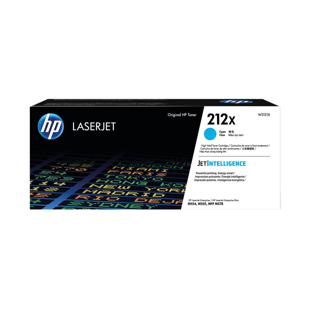 HP 212X Cyan High Yield Laserjet Toner Cartridge W2121X